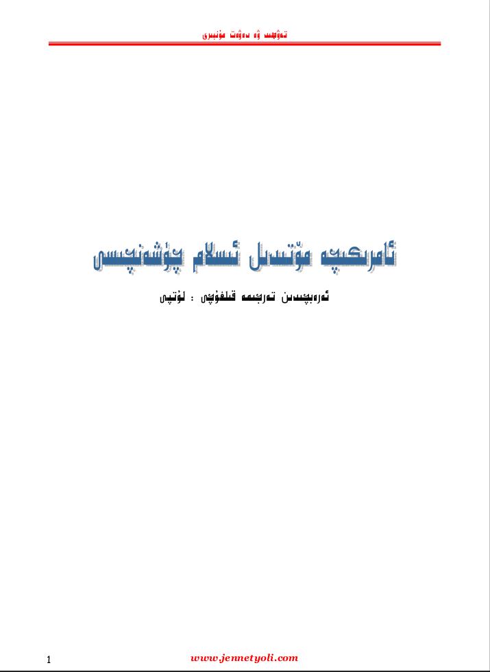 amerkiche motidil islam medinyiti - ئامېرىكىچە مۆتىدىل ئىسلام چۈشەنچىسى-