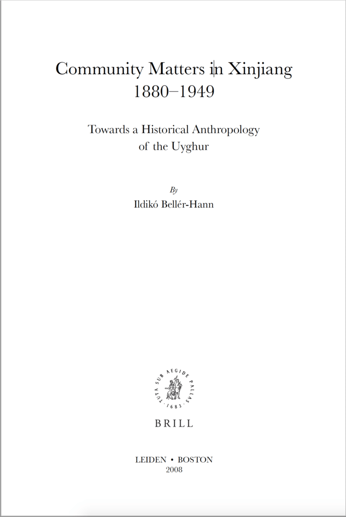Community Matters in Xinjiang 1880-1949: Towards a Historical Anthropology of the Uyghur, ئېلكىتاب تورى