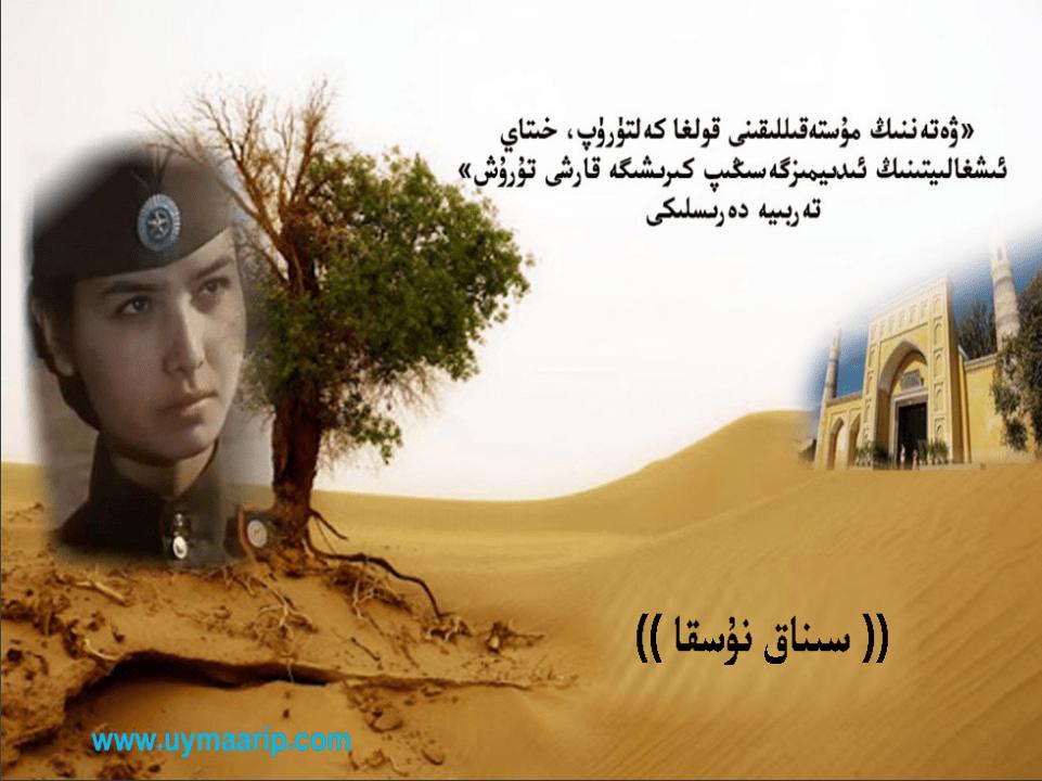 Introduction to Flag of Turkestan pdf - «ۋەتەننىڭ مۇستەقىللىقىنى قولغا كەلتۈرۈپ، خىتاي ئىشغالىيىتىنىڭ ئىدىيىمىزگە سىڭىپ كىرىشىگە قارشى تۇرۇش» تەربىيە دەرسلىگى