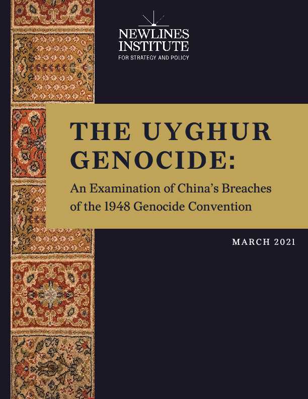 Chinas Breaches of the GC 0 - The Uyghur Genocide: An Examination of China's Breaches of the 1948 Genocide Convention